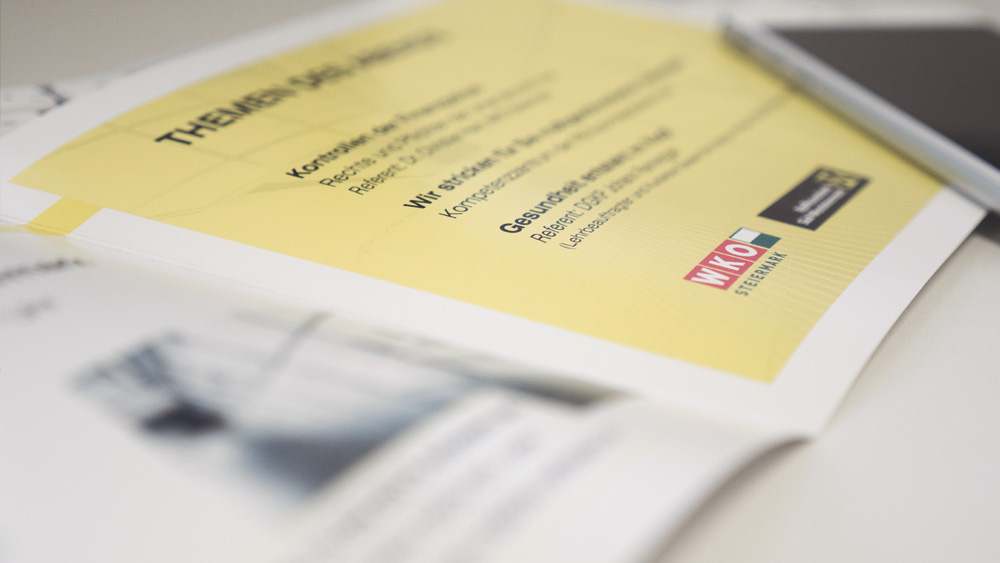 Folder, Design, Layout, Falzflyer, Einladungen, Raiffeisenbank