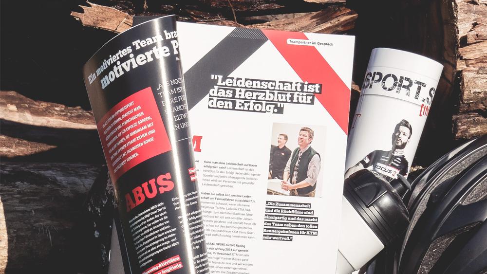 Magazinentwicklung, Layout, Design, Radsportszene