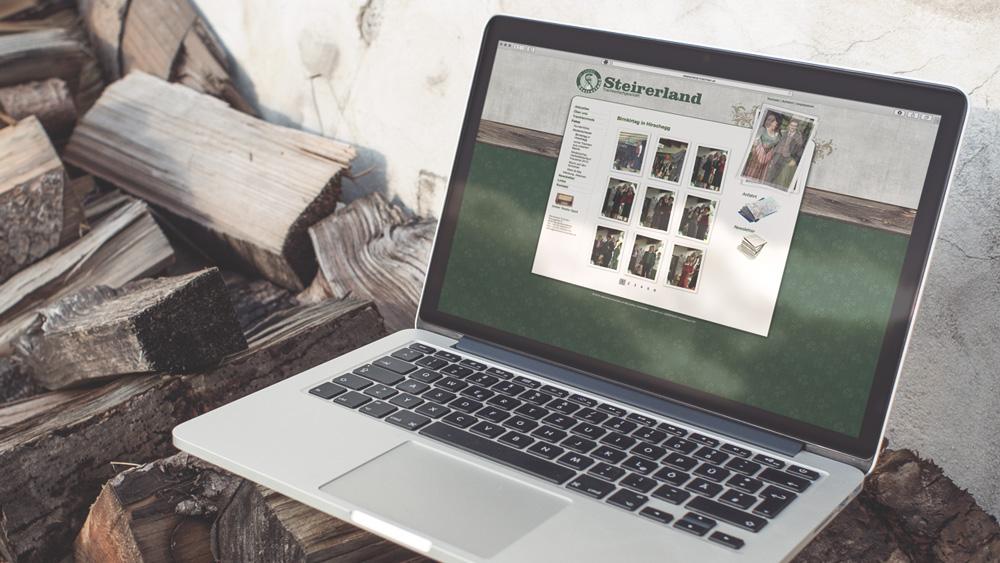 Homepage, Webdesign, Steirerland Trachten