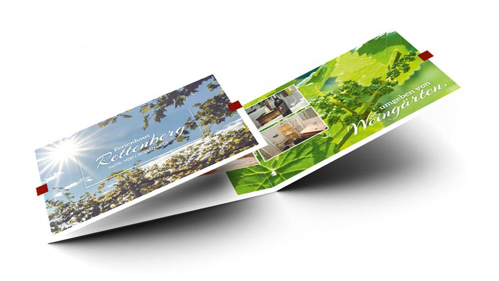 Folder Ferienhaus, Falzflyer, Design, Layout