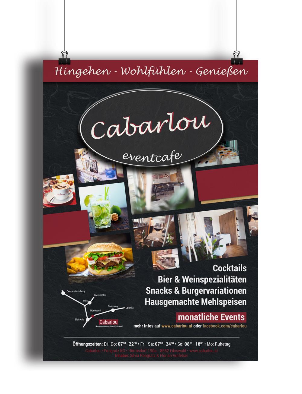 Werbung, Eventcafe Eibiswald