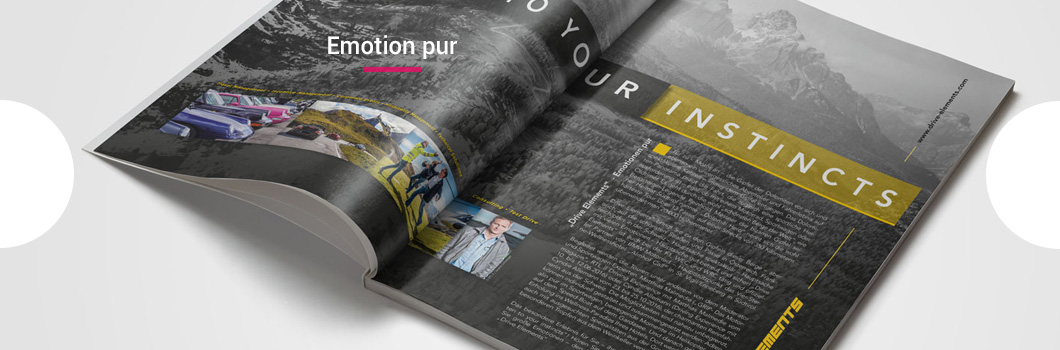 Drive Elements, Broschüre, Magazin, Design, Layout