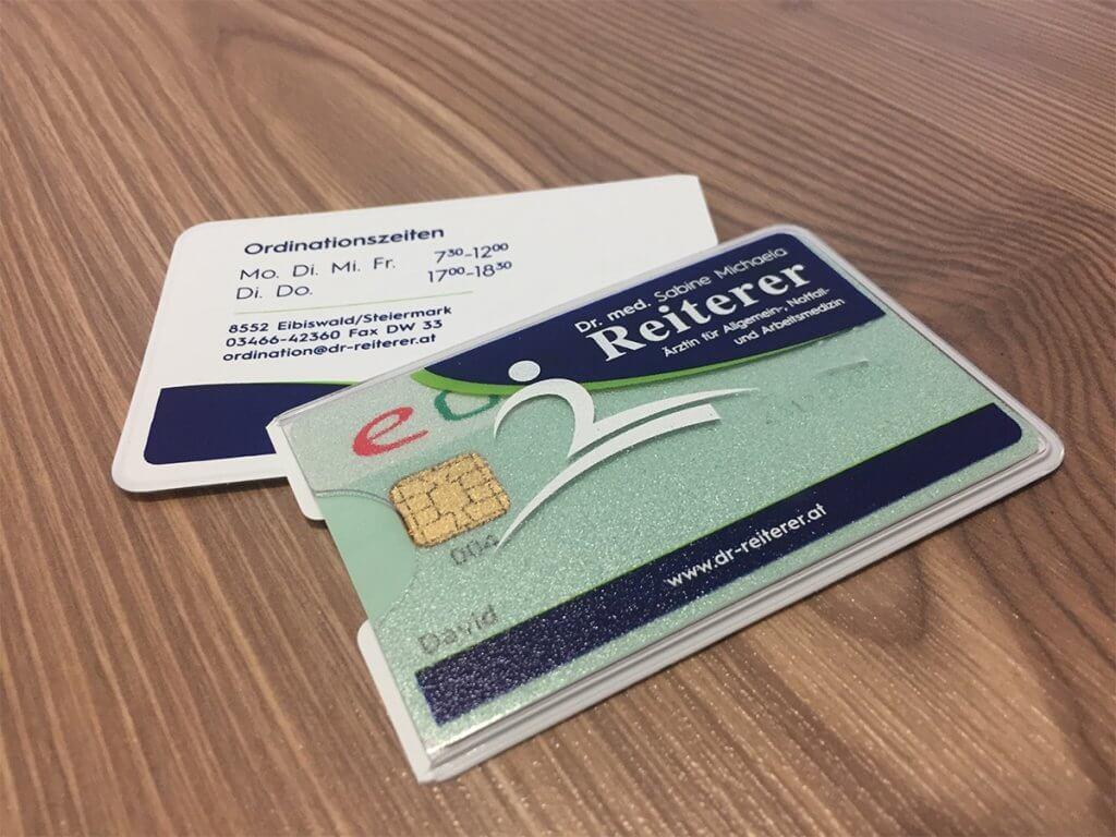 E-Card Hüllen, Dr. Reiterer, Eibiswald