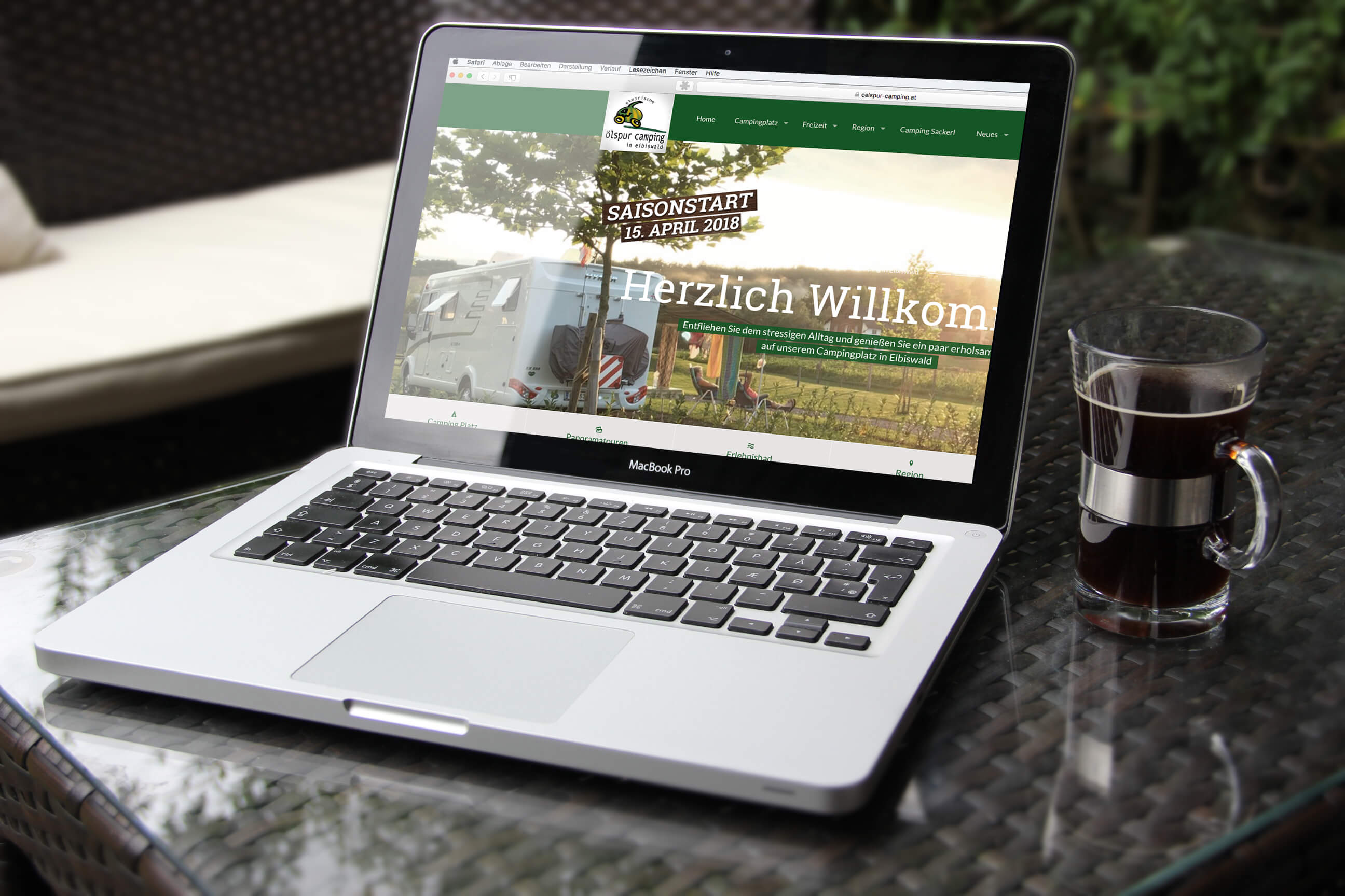 Webseite, Camping